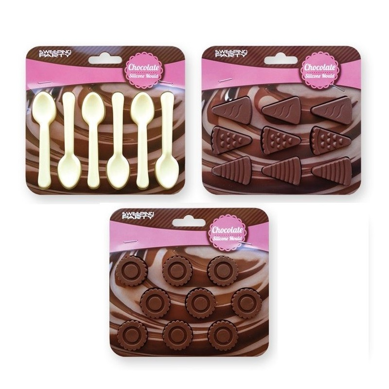 SET 3 STAMPI CIOCCOLATINI IN SILICONE ASSORTITI 1313