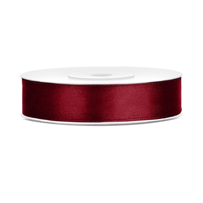 Nastrino in raso Rosso Intenso 1 cm x 25 mt TS12-082