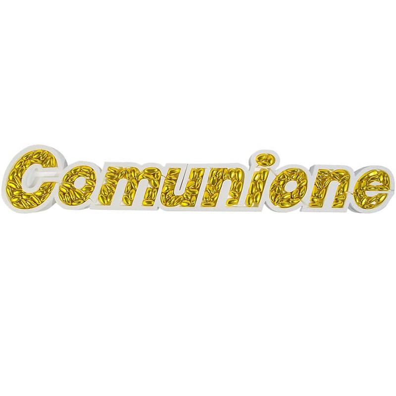 SCRITTA COMUNIONE DI...