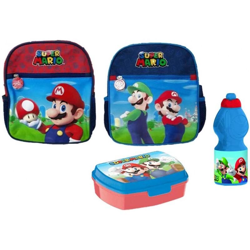 Portamerenda Accessori Asilo Super Mario Set merenda Bicchiere Borraccia
