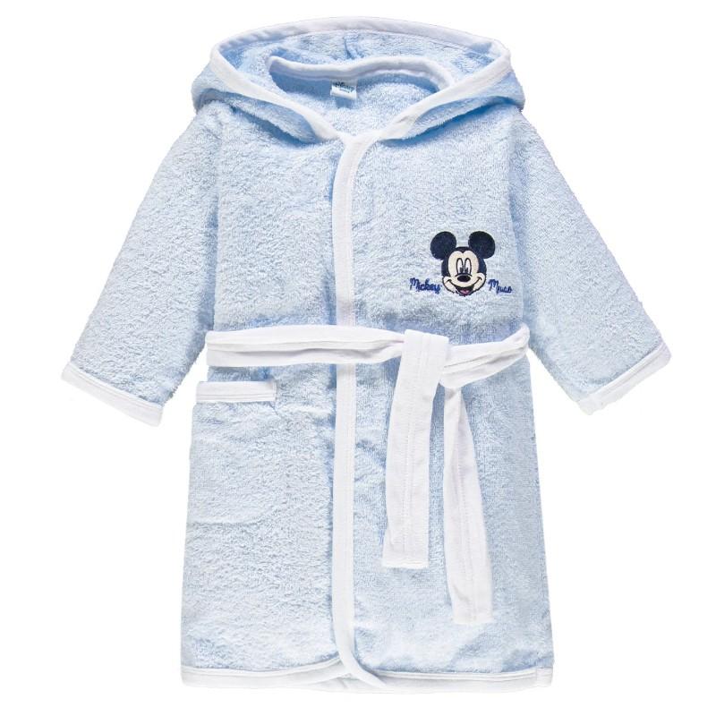 Accappatoio In Spugna Topolino Mickey Mouse per bambini WB202MA Cielo 7043 TG 12 mesi