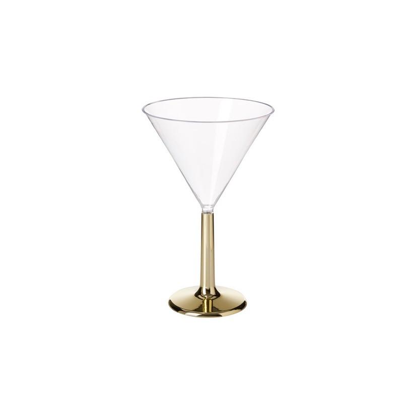 Coppa martini in Plastica per confettata con base oro 5NM14550EG-IT
