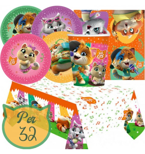 irp Kit N 7 Coordinato 44 Gatti New Addobbi Festa a Tema Compleanno