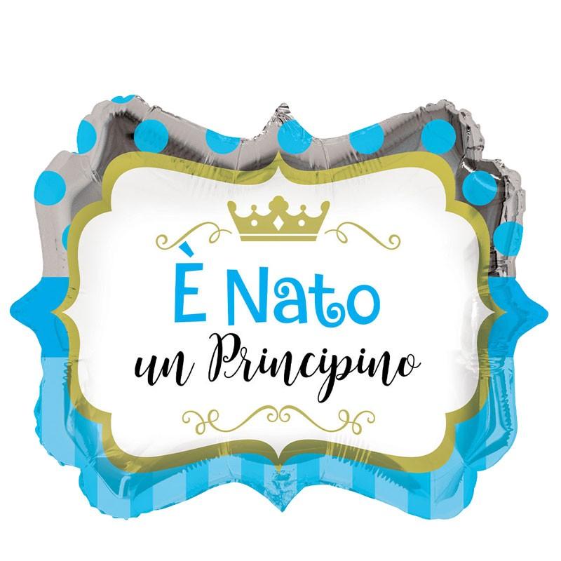 PALLONCINO FOIL è NATO UN PRINCIPINO 46 CM - 995076-01