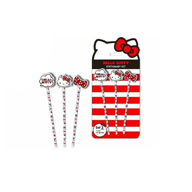 matite con gomma sagomata Hello Kitty blister 3 pz H00910