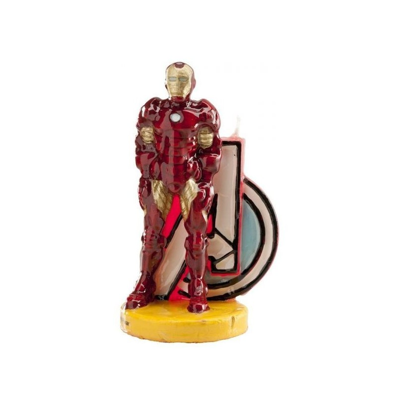 346093 CANDELINA IN CERA PERSONAGGIO IRON MAN