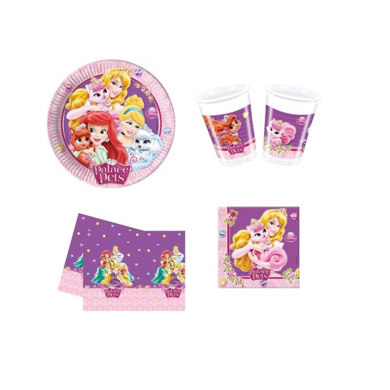 KIT N3 COMPLEANNO PRINCIPESSE DISNEY PALACE PETS