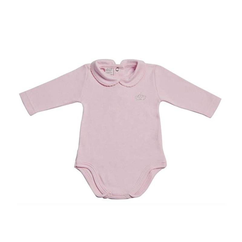 Body neonata mod. polo manica lunga rosa AF3638 Tg 18 mesi