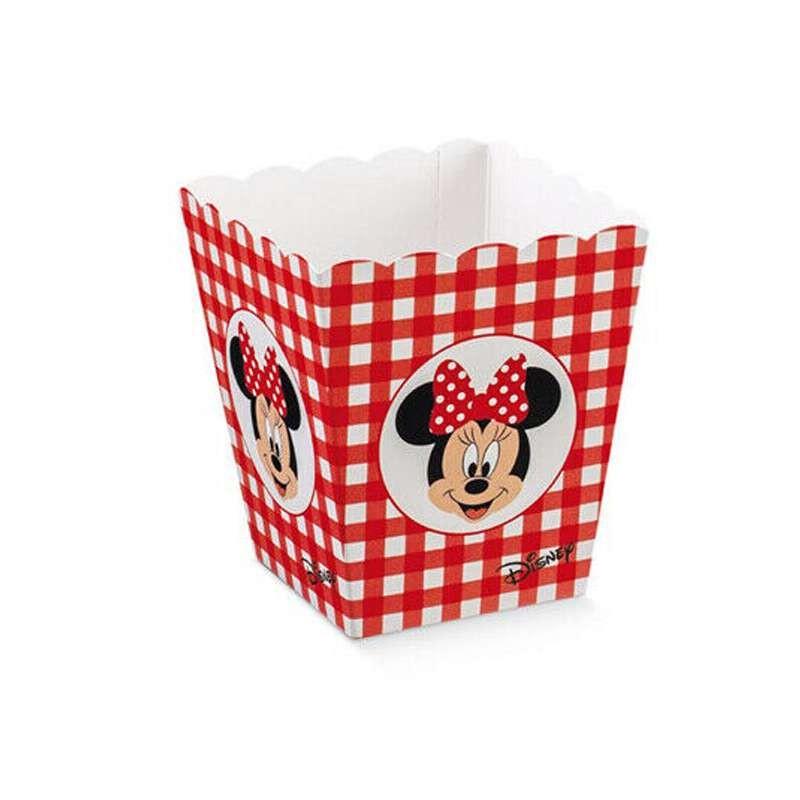 Contenitore caramelle pop corn Minnie - misura piccola 10 pz
