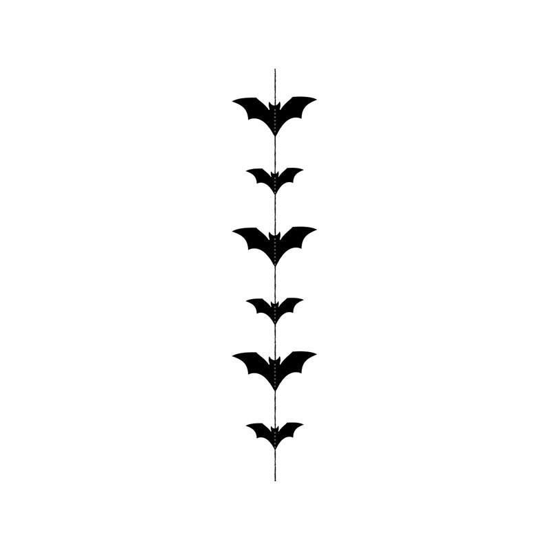 Ghirlanda Pipistrelli colore nero metallizzato 1,5 m GL26-010