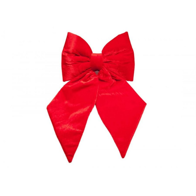 Fiocco Decorativo in Velluto Rosso 80 CM Natale 21777/R