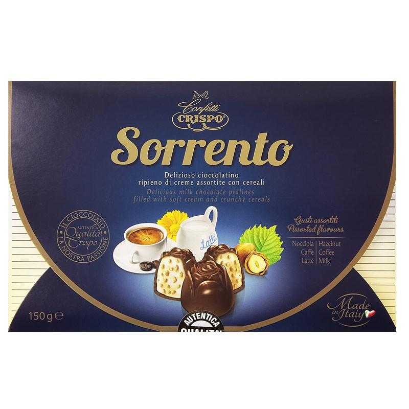 Crispo praline Sorrento cioccolatino Ripieno Di Creme Assortite Con Cereali 150 G