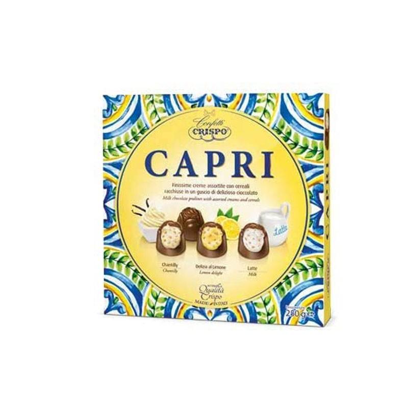 Crispo praline Capri cioccolatino Ripieno Di Creme Assortite Con Cereali 250 G