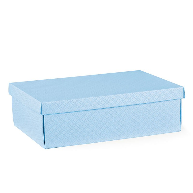 Scatola in cartone con coperchio azzurra 37455 380 x 260 x 130 mm