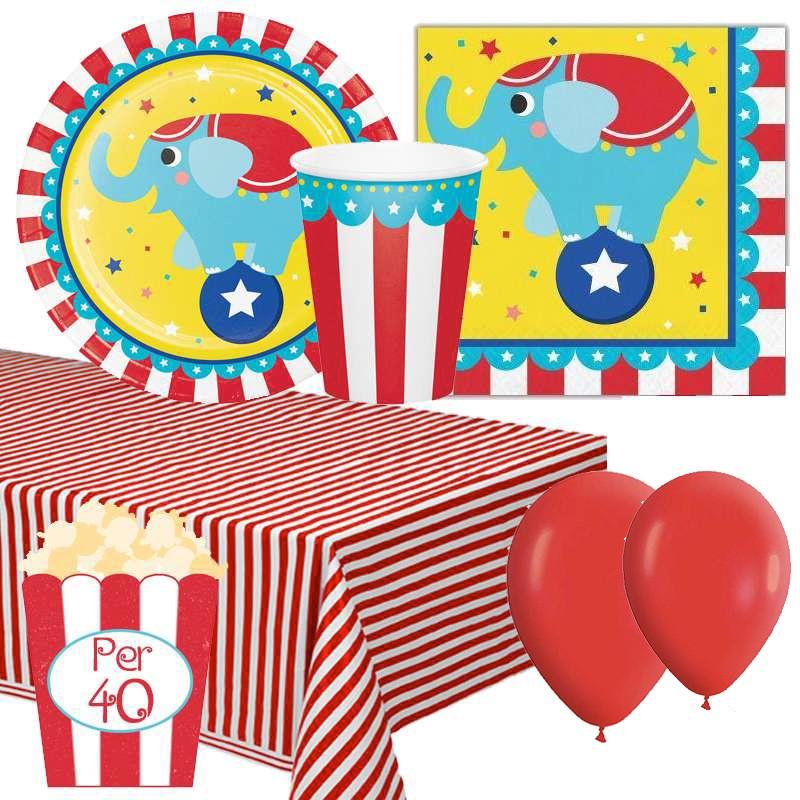 Coordinato tavola a tema Circo