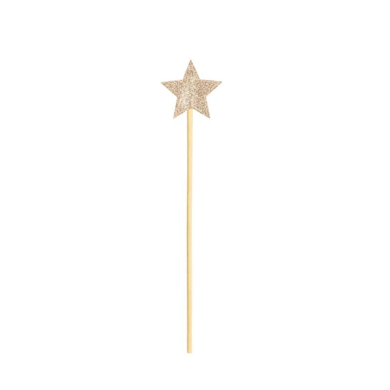 Bacchetta magica colore oro ca. 8,5 x 36 cm STD2-019