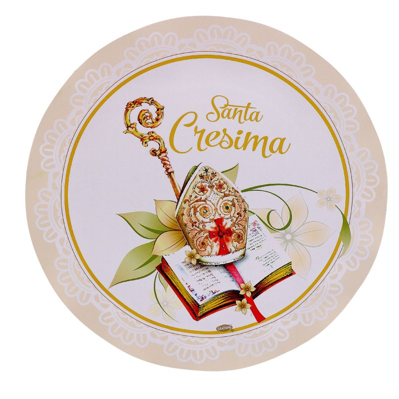 Piatti santa cresima 21 cm 50689 8 pz.