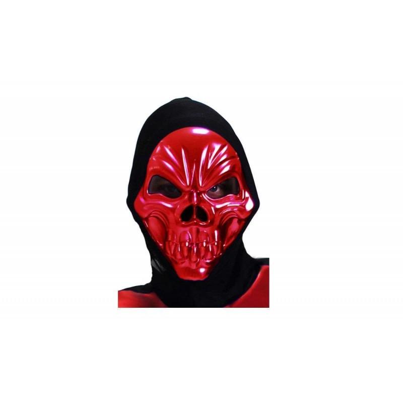 Maschera Scheletro Rosso Metal 6H-MAS0091A