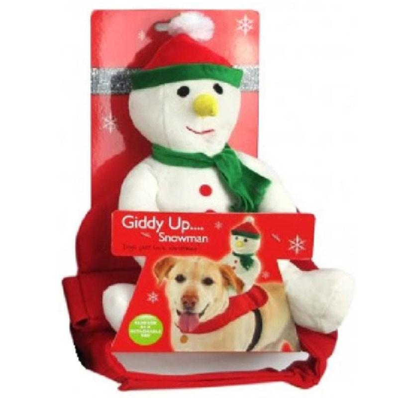 Pettorina cane  natalizia pupazzo di neve XB0007