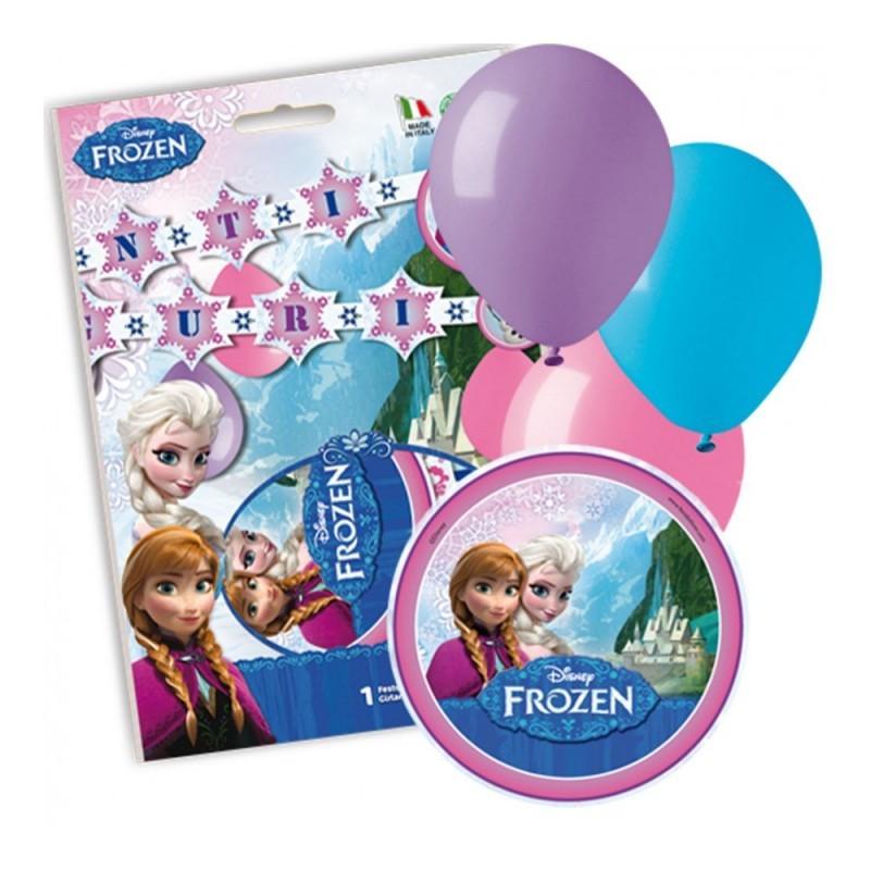 Festone Frozen Tanti Auguri Con Palloncini FBD121