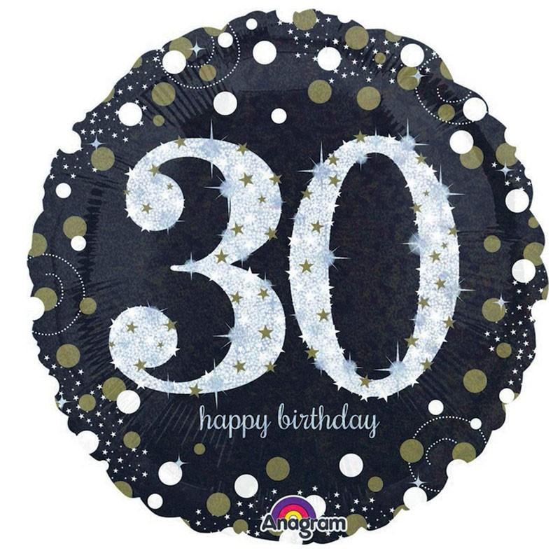 Foil 30 anni tondo 45 Cm Sparkling Birthday 30 3212901