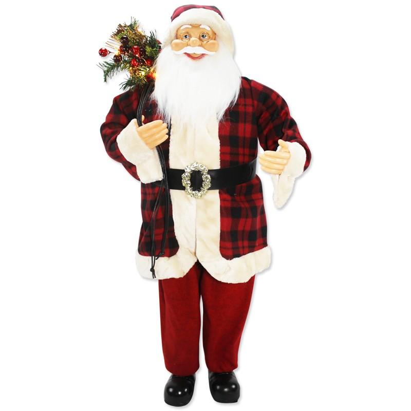 Babbo Natale Musicale.Babbo Natale Musicale Maxi Con Luci 110cm 9211