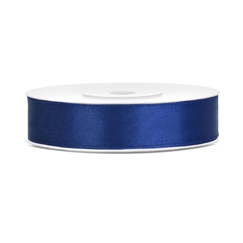 Nastrino in raso blu navy 1 cm x 25 mt TS12-074