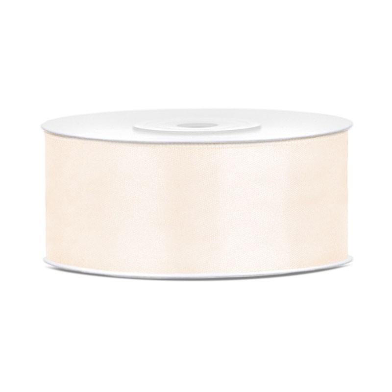 Nastro Doppio raso crema chiaro 2,5 cm x 25 TS25-079J