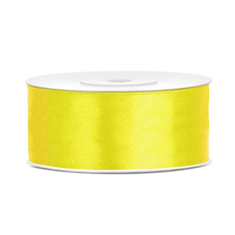 Nastro Doppio Raso giallo 2,5 cm x 25 TS25-084