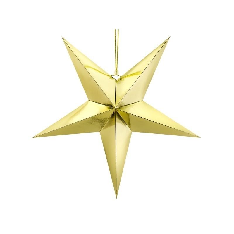 Stella carta Oro 70 cm  GWP1-70-019M