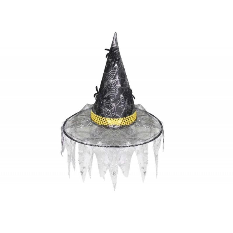 Cappello da strega taglia unica argento  6h-cap0081-b