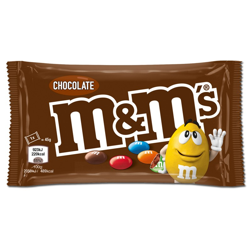 Bustina M&M\'s choco Confetti Colorati Cioccolato al Latte 45g