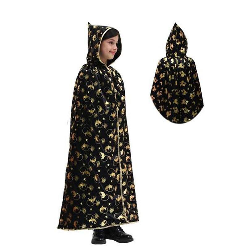 mantello con cappuccio laminato fantasma oro per bambini varie taglie – pegasus 6man-0030a S
