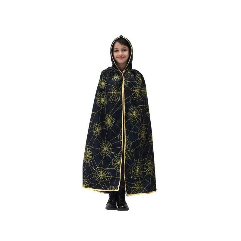 mantello con cappuccio ragnatele oro per bambini varie taglie – pegasus 6man-0031A M