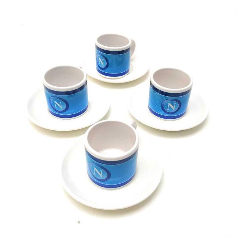 Set 4 Tazzine caffè Accessori Ufficiali SSC Calcio Napoli CP005NP