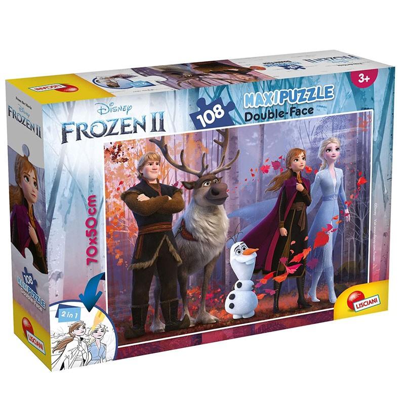 Puzzle Frozen II disney double face 108 pezzi 73399 70 x 50 cm