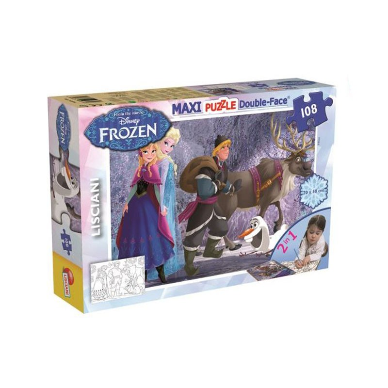 Puzzle Frozen on The Walk Disney  108 Pezzi, double face 46898
