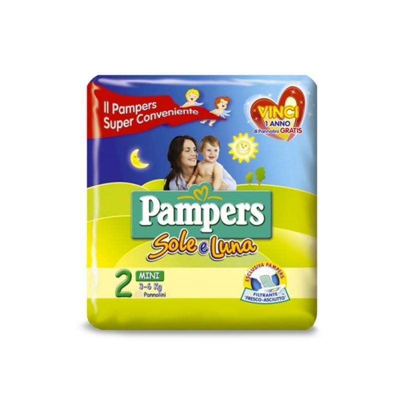 Pampers Sole e Luna Pannolini Mini, Taglia 2 (3-6 kg), 1 ...