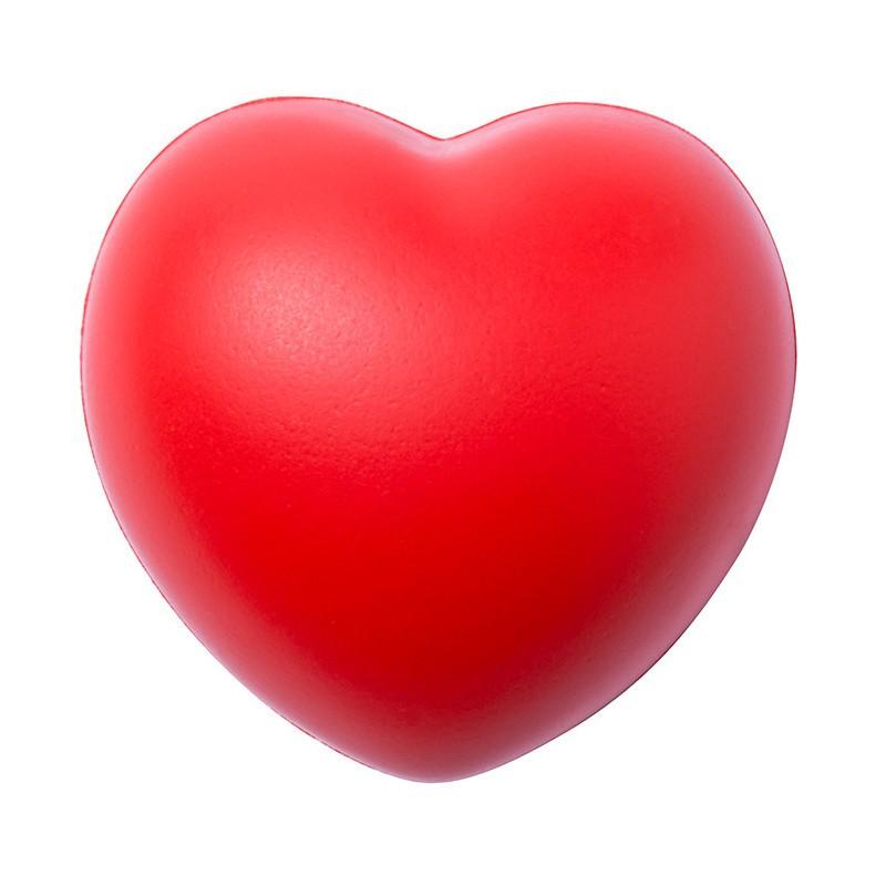 cuore rosso antistress in poliuretano cm 7,1 x 7 x 5