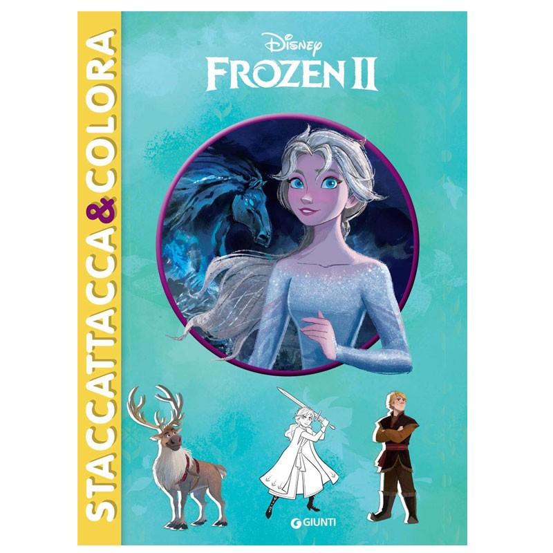 Frozen II - Staccattacca&Colora albo con storia da leggere pagine da colorare e completare con gli adesivi