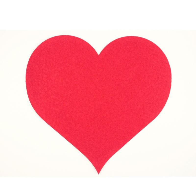 Cuore in cartoncino sagomano rosso decorativo 55 x 48 cm 012700019