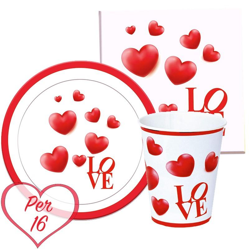 KIT N.2 LOVE CUORI ROSSI