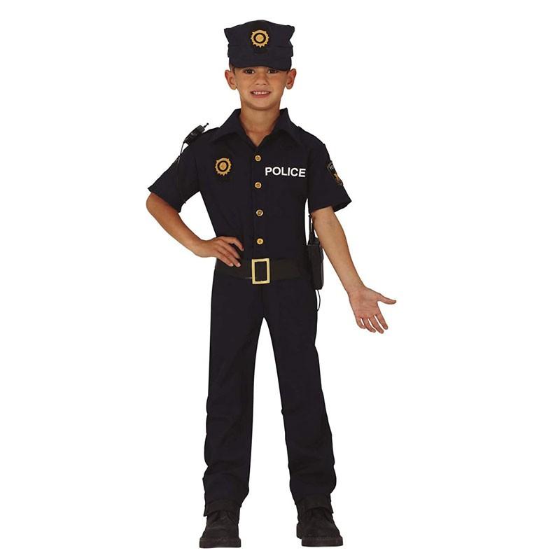 Costume da Poliziotto di quartiere Americano per Bambino 83744 7-9 anni