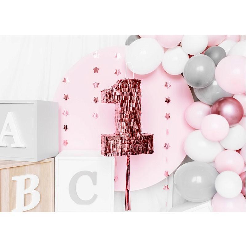 Pignatta numero 1 rosa Gold PIN13-1-019R