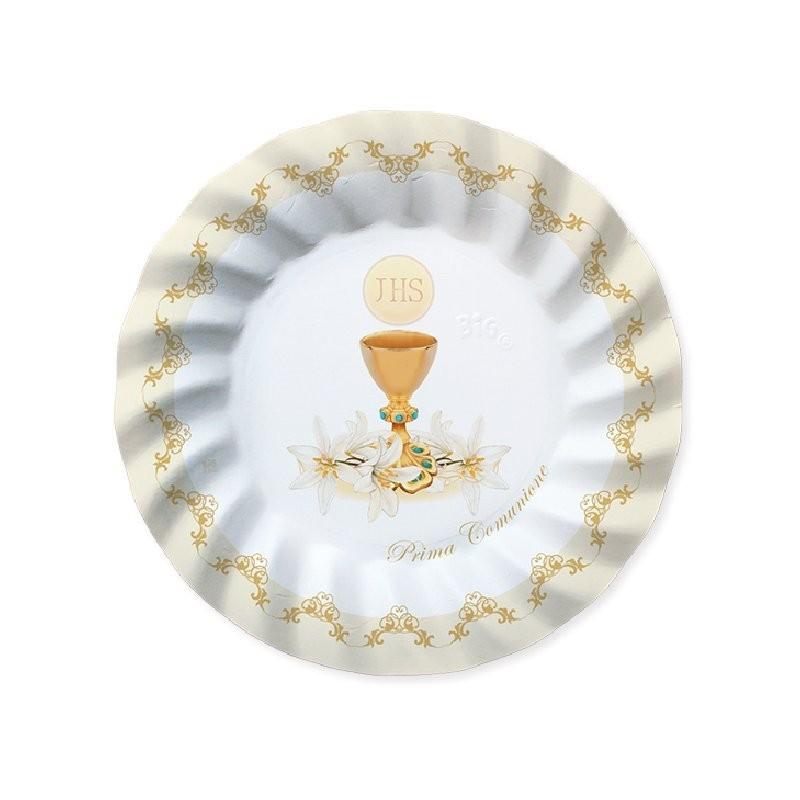 ipt Kit n 46 Coordinato Tavola Prima Comunione Classic Beige addobbi e Decorazioni Comunione eucarestia allestimento tavola Buffet casa Cerimonia Sweet Table