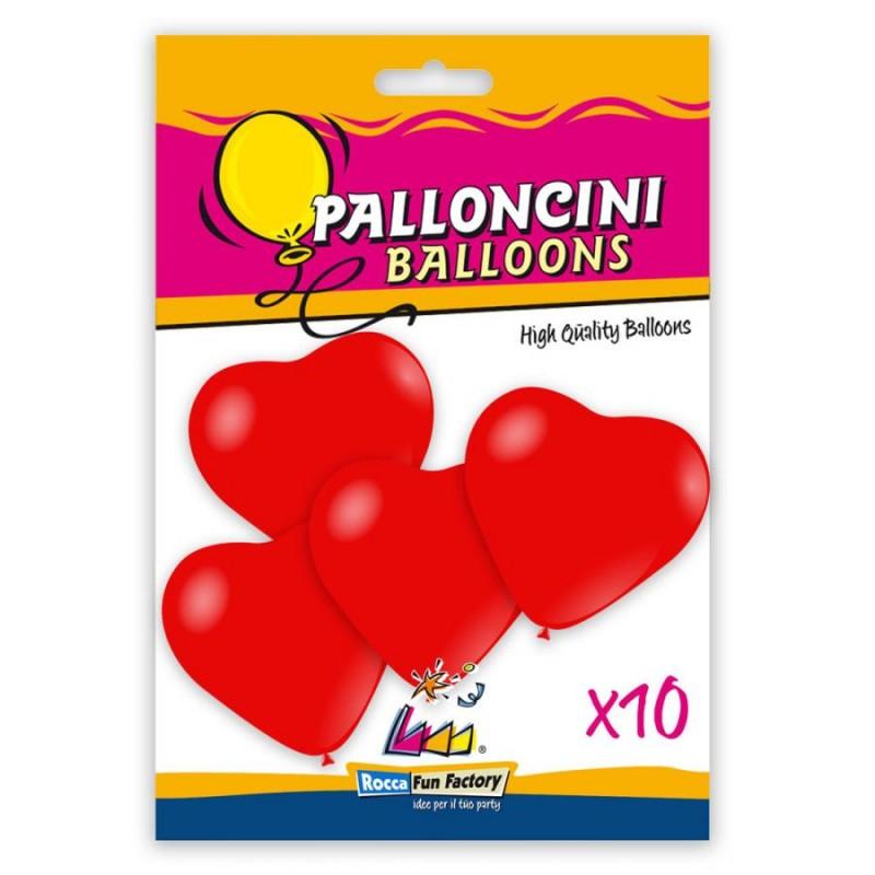 10 palloncini a Forma di  cuore 17 - 43 cm rosso pastello 28 - 985428