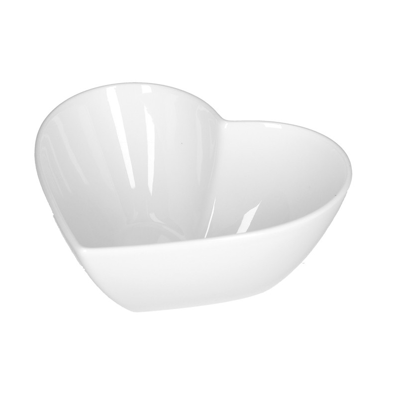 Ciotola portacioccolatini forma di cuore in ceramica 12,7x12,7x5,7cm - 910225