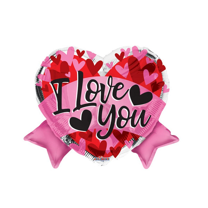 Palloncino Foil Cuore I Love You con Fiocco 15987-18