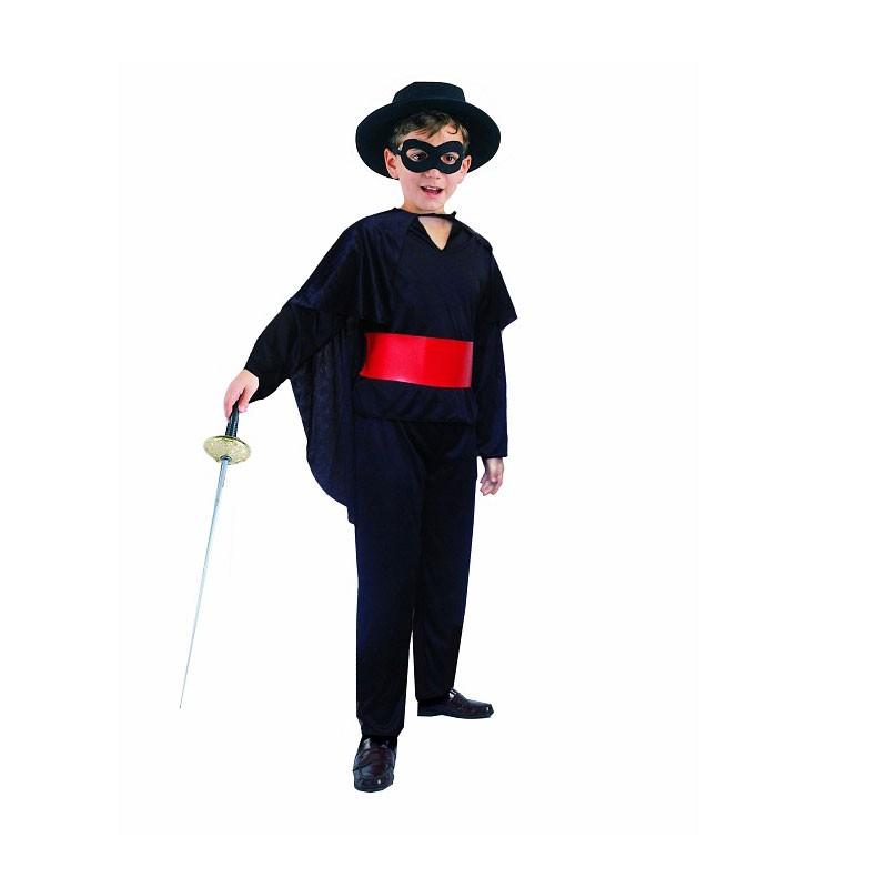 Costume da bambino per carnevale zorro 130/140 cm SL-MS13
