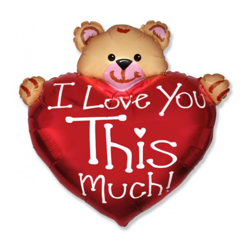 Palloncino Supershape Orsetto con cuore I Love You - 901715